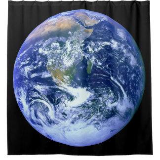 Erdblau-Marmor Duschvorhang