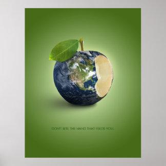 Erde als Apple - Plakat