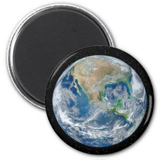 Erde auf dem Stern-Gebiet - mehrfache Produkte Runder Magnet 5,1 Cm