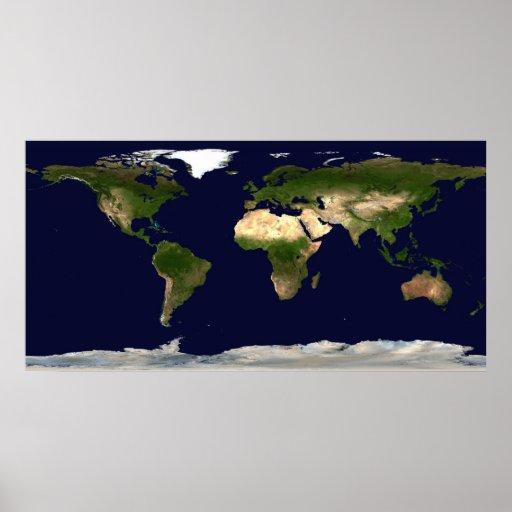 Erde bis zum Tag Posterdruck