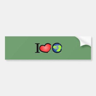 Erde der Liebe I Autoaufkleber