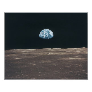 Erde gesehen vom Mond Poster
