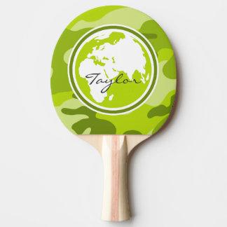 Erde; hellgrüne Camouflage, Tarnung Tischtennis Schläger