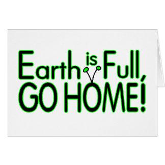 Erde ist voll, also gehen Zuhause Karte