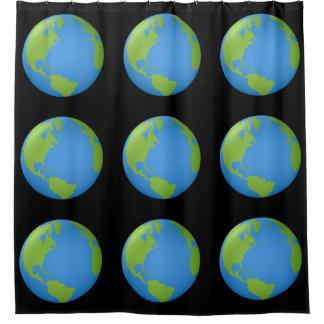 Erde klassisches 3D Duschvorhang