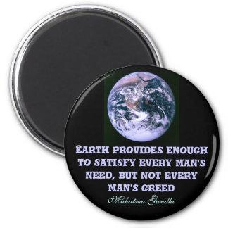 Erde liefert Magneten Runder Magnet 5,7 Cm