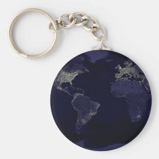 Erde nachts schlüsselanhänger