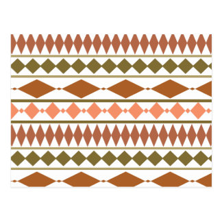 Erde tont Stammes- geometrisches Muster Postkarte
