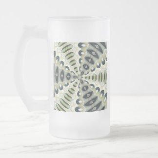 Erde tont symmetrisches Kaleidoskop Mattglas Bierglas