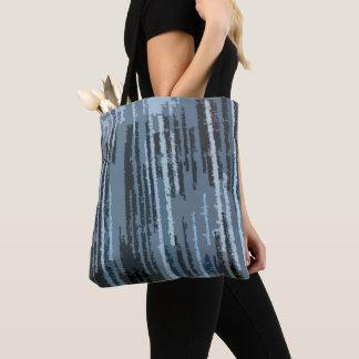 Erde tonte blaues abstraktes Muster Tasche