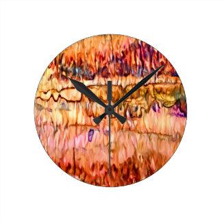 Erde überlagert abstraktes runde wanduhr