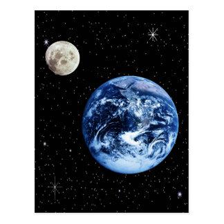 Erde und Mond Postkarten
