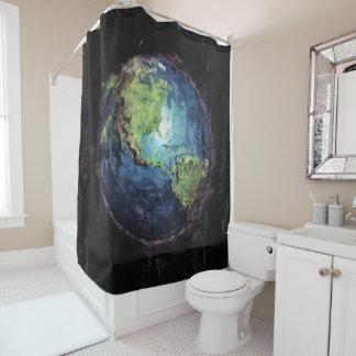 Erde und Raum Duschvorhang