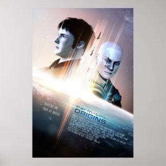 "Erde-Verbindung Ursprungs-Plakat #002 (24"" x 6"") Poster"