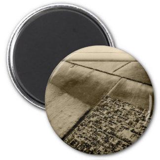 Erde von der Luft Runder Magnet 5,1 Cm