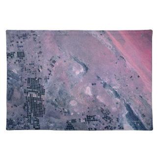 Erde von einem Satelliten Tisch Set