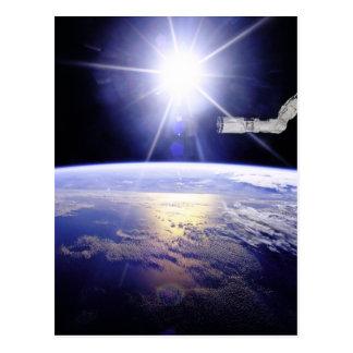 Erde, wie von der Raumstation gesehen Postkarte