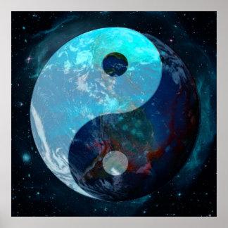 Erde Yin Yang Poster