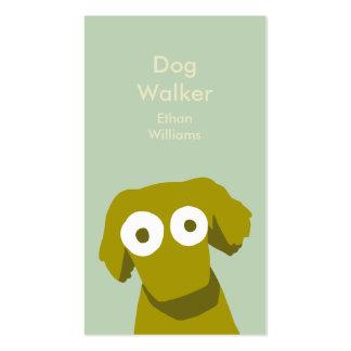 Erdfarbe Hund Visitenkarten