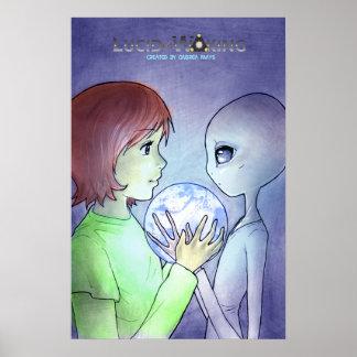 Erdhologramm-Plakat klein Poster