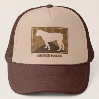 Erdige amerikanische Bulldoggen-Geschenke Truckerkappe
