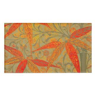 Erdige Bambuskunst-Druck-Illustration bunt Namenschild