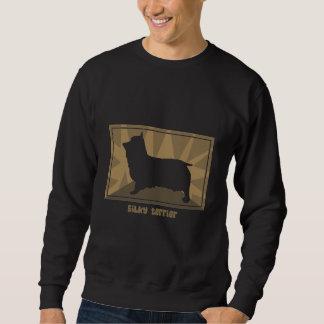Erdiges seidiges Terrier Sweatshirt