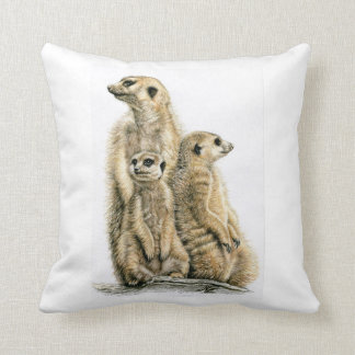 Erdmännchen - Meerkats Kissen