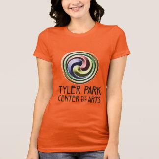 Erdmitte-Tonwaren-Schwarzes erhalten schmutziges T-Shirt