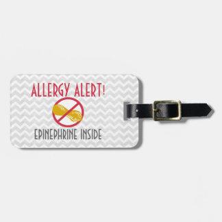 Erdnuss-Allergie-Adrenalin innerhalb der Kinder Gepäckanhänger