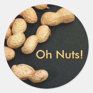 Erdnuss-Aufkleber Runder Aufkleber