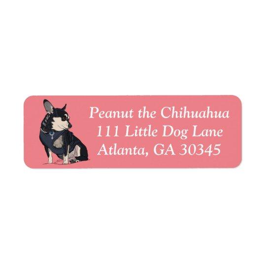 Erdnuss die Chihuahua-Adressen-Etiketten Rücksende Aufkleber