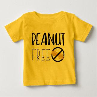 Erdnuss-freier Symbol-Erdnuss-Allergie-Alarm Baby T-shirt