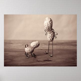 Erdnuss-Mann und Hund Poster
