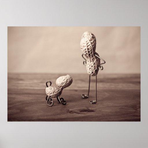 Erdnuss-Mann und Hund Posterdrucke