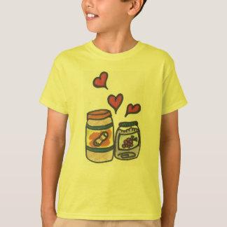 Erdnussbutter des lustiges Kindes und Gelee-T - T-Shirt