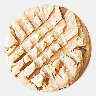 Erdnussbutter-Plätzchen-Aufkleber Runder Aufkleber