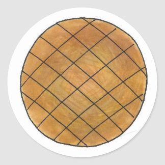 Erdnussbutter-Plätzchen-Backen backt Runder Aufkleber