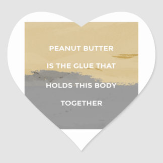 Erdnussbutter-Regeln Herz-Aufkleber