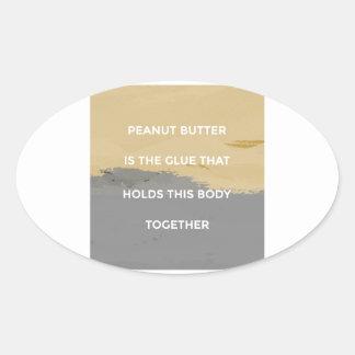 Erdnussbutter-Regeln Ovaler Aufkleber