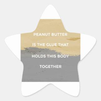 Erdnussbutter-Regeln Stern-Aufkleber
