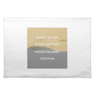 Erdnussbutter-Regeln Tischset