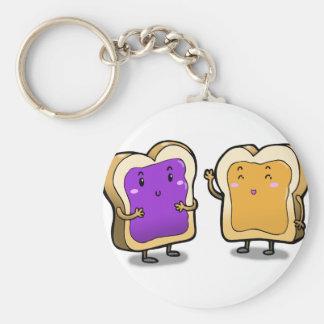 Erdnussbutter und Gelee Schlüsselanhänger