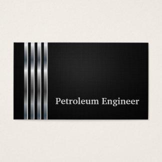 Erdöl-Ingenieur-berufliches schwarzes Silber Visitenkarte