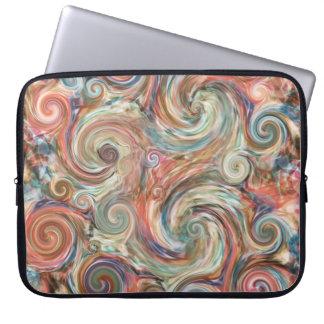 ErdpastellfarbWirbels-Laptop-Hülse Laptopschutzhülle