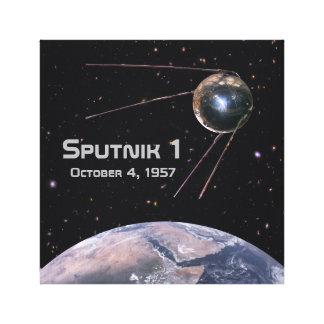 Erdsatellit Sputnik 1 Leinwanddruck