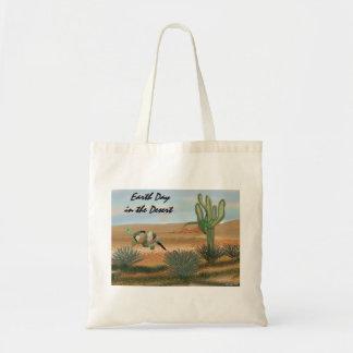 Erdtag in der Wüsten-Bio Budget Stoffbeutel