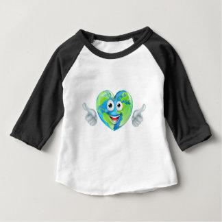 Erdtagesdaumen Up Maskottchen-Herz-Kugel-Cartoon Baby T-shirt