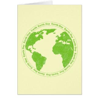 ErdtagesgummiBriefmarken-Karten-Schablone Grußkarte