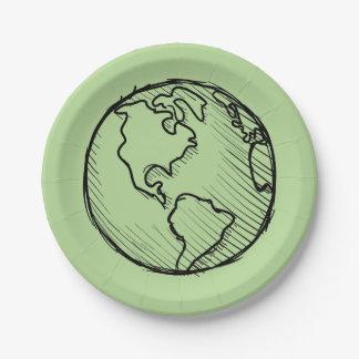 Erdtagesplaneten-Teller u. Party-Versorgung Pappteller